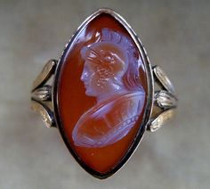 goddess athena cameos | Georgian 18ct Gold Agate Cameo Ring. Circa 1795. from simonmillard ...