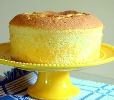 Learn how to make a light, fluffy lemon chiffon cake that's an impressive dessert for every occasion.(Cake Recipes To Try) Lemon Desserts, Lemon Recipes, Sweet Recipes, Baking Recipes, Delicious Desserts, Dessert Recipes, Light Desserts, Cupcakes, Cake Recipes