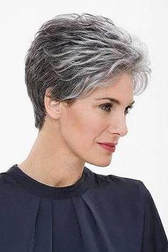 Resultado de imagem para cabelos curtos grisalhos