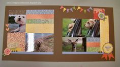 Scrappin with Cristin-one of the 5 layouts from the CTMH Jubilee Scrapbooking workshop. Coming up in June!