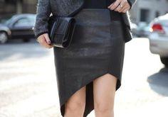 #Asymmetrical Mini Skirt, #leather skirt