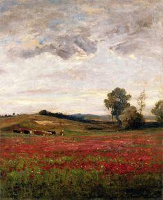 Charles-Francois Daubigny (Field of Poppies)