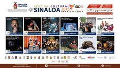 Cartelera del Festival Cultural Sinaloa 2016 #Culiacán