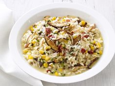 #FNMag's Corn and Mushroom Risotto #Veggies #Grains #MyPlate