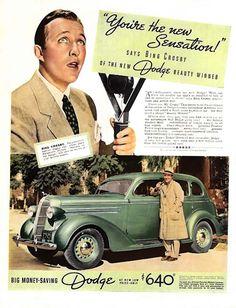 0 Bing Crosby for Dodge 4-door Sedan ad 1936