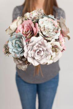 Paper Spring Flower Bouquet. Make It Now in Cricut Design Space