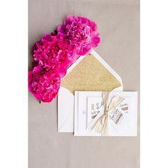 We love the pop of #gold #glitter in this #invitationsuite! #weddinginvitations #envelope #invitations    Photography: @_jessicaburke   Event Planning: @asavvyevent   Floral Design: @nancyliuchin   Invitations: @foreverheyday   Linens: @latavolalinen   Cake: @sweetoncakenapa   Rentals: @ArchiveRentals   Venue: @meadowoodnews   Wedding Website: @rileyandgrey   Bridal Boutique: @hautebridedesign   Signage: @SwoonCustomChalk   Tents: @zephyrtents by smpweddings