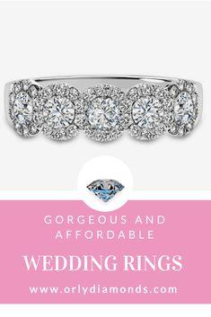 Diamonds with halo wedding band at Orly Diamonds Cool Wedding Rings, Diamond Wedding Rings, Diamond Bands, Wedding Bands, Halo, Diamonds, Jewelry, Jewlery, Jewerly