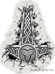 Скандинавские эскизы татуировок и..