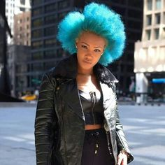 Bold Bright Coloured Afro Hair