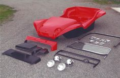 Meyers Manx Kick-Out Kit. More pieces, parts, and support than any other dune buggy kit car.