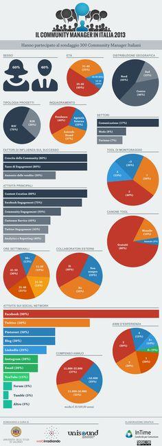 Il Profilo del Community Manager in Italia 2013 - Infographic