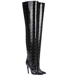 de2a5609577 Black patent-leather Overknees by Balenciaga. Shop these Boots by clicking  on the picture