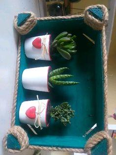 Recycling, Patio, Diy And Crafts, Cactus, Planter Pots, Succulents, Canning, Interior Exterior, Home Decor