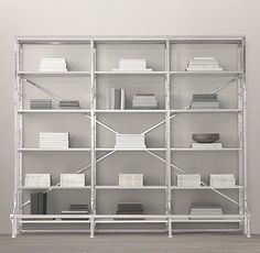 French Library Triple Shelving