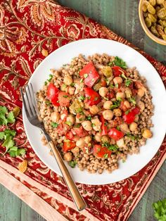 Made with warm spices, chickpeas, golden raisins and fresh veggies, this easy Slow Cooker Moroccan Chicken recipe is delicious, healthy and budget friendly!