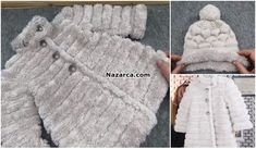 Crochet Baby Sweater Pattern, Baby Sweater Patterns, Crochet Hats, Cable Knitting Patterns, Baby Knitting, Crochet Patterns, Baby Sweaters, Girls Sweaters, Knit Fashion