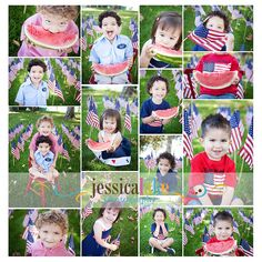 4th of July Photo ideas--- will have to try watermelon at the END of our photo shoot.  LOL