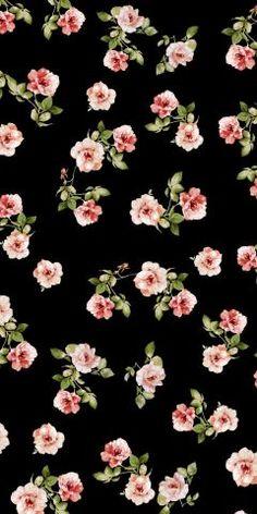 background vintage patterns and Black rose floral