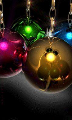 Новогодние шары - анимация на телефон №937312