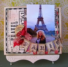 Easter scrapbook layout: Paris