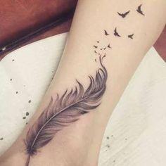 Resultado de imagem para ankle bird tattoos