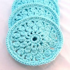 Warm & Woolly: Round Crochet Cotton Coasters