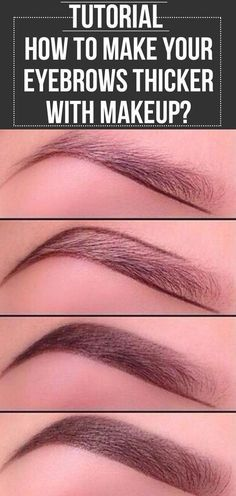 Eyes influence the way we look & grooming them a little enhances the looks. Here is a tutorial on how to make eyebrows thicker with makeup. #eyemakeup #makeup #makeuptutorials