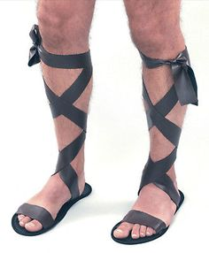 New mens #brown roman greek #gladiator #fancy dress costume accessory sandals sho,  View more on the LINK: 	http://www.zeppy.io/product/gb/2/350703159296/