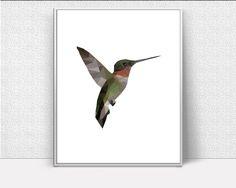 Low Poly Bird, Low Poly Print, Hummingbird Low Poly, Lowpoly, Modern Minimalist Art, warming present, scandinavian, Wall Decor, Most Popular #giftidea #birthdaygiftideas #housewarminggift