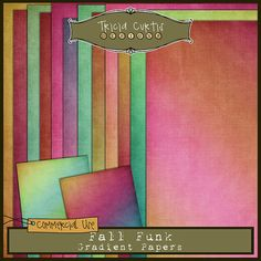 Fall Funk Commercial Use Gradient Papers by triciacurtis on Etsy