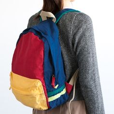 color-block backpack