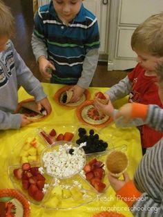 Our Thanksgiving Feast in preschool