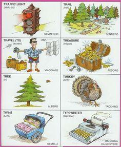 Learning Italian Language ~ Parole Inglesi Per Piccoli e Grandi - #Illustrated #dictionary - T2