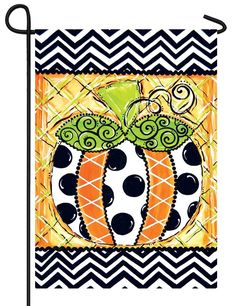 IAmEricas Flags - Whimsy Patterned Pumpkin Garden Flag, $14.00 (http://www.iamericasflags.com/whimsy-patterned-pumpkin-garden-flag/)