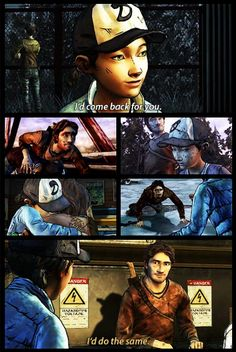 """I'd do the same"" Clementine and Luke 