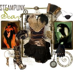 """""""Steampunk: Scar"""" by ghsdrummajor on Polyvore - for Ben, obviously need to """"manify"""" it"""