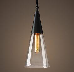 Mason Glass Cone Filament Pendant
