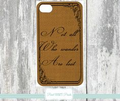 BURLAP PHONE COVERS Phone Cases Not All Who by Pearlheartprints
