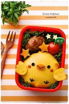 「ヒヨコちゃんオムライス」:キャラ弁連載:初めてでも楽しく作れる♪3Dキャラ弁当:レシピブログ