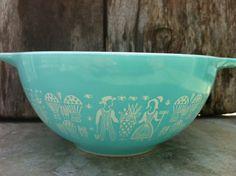 Aqua Color Cinderella Pyrex Dish. $25.00, via Etsy.