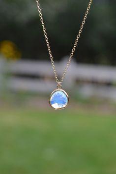 Opal Pendant Necklace by Mint Peach Boutique #manchesterwarehouse