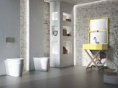 Sistema lavabo richiudibile MY BAG by Olympia Ceramica | design Gianluca Paludi