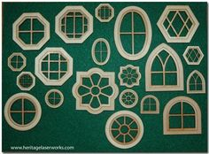 Dollhouse Miniature Windows  (Check out her site for other building accessories)