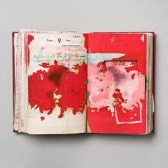"""vjeranski: """" Dieter Roth Diaries, Hardcover leatherbound diary with drawings, coloured sketches, collages (cover) x 11 x 3 cm / 6 x 4 x 1 inches. Art Journal Pages, Artist Journal, Art Journals, Visual Journals, Moleskine, Kunstjournal Inspiration, Sketchbook Inspiration, Arte Sketchbook, Sketchbook Pages"""