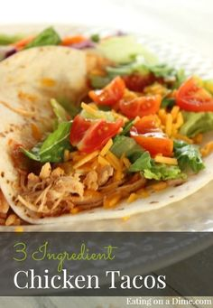 Crockpot Chicken Tacos recipe is packed full of flavor. You will be pleasantly surprised when you sit down for dinner. How to make Shredded chicken tacos that taste amazing. The chicken taco ingredients are easy and anyone can make them. This is one of my favorite slow cooker mexican chicken recipes.