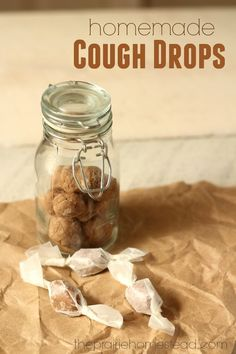 homemade cough drops and throat lozenges made with natural ingredients!