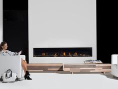 Gas fireplace / contemporary / closed hearth / built-in MOD Modus Fireplaces