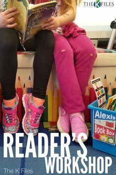 Reader's Workshop - The K Files Classroom Management Strategies, Teaching Strategies, Behavior Management, Writer Workshop, Reading Workshop, Reading Logs, Readers Workshop Kindergarten, Kindergarten Reading, Workshop Organization