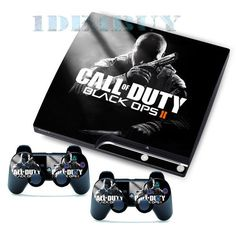 Amazing Black 2 Stickers Skins Decals for PS3 Slim & 2 Games Controller Skins #UnbrandedGeneric #Blackops2